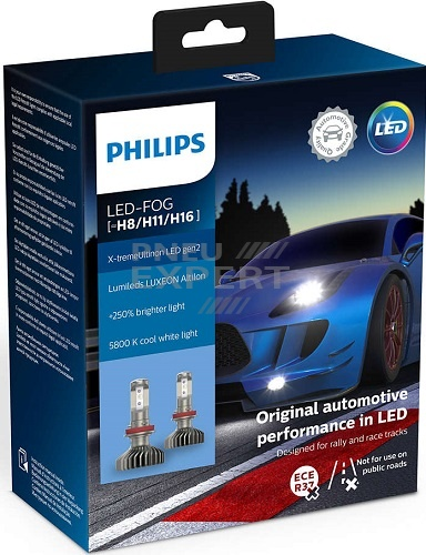 Philips H8/H11/H16 X-tremeUltinon LED gen2 Lumileds (+250%) 11366XUWX2