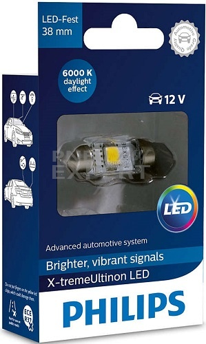 Philips Festoon X-treme Vision LED 38mm 128596000KX1 de la magazin Pneuexpert.md